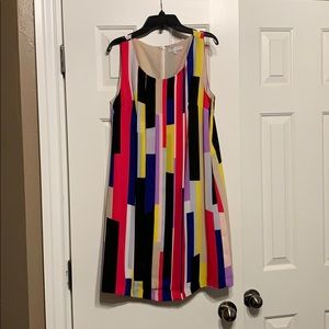 Bright block stripe dress